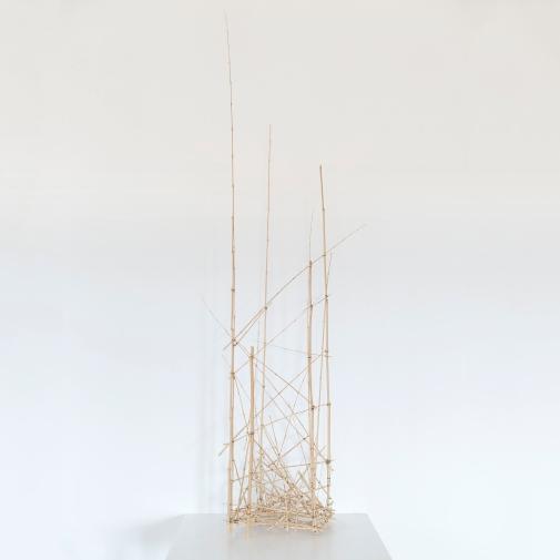 Sculpture 1 - 2016 - Bambous, fil de fer - 45 x 31 x 160 cm.