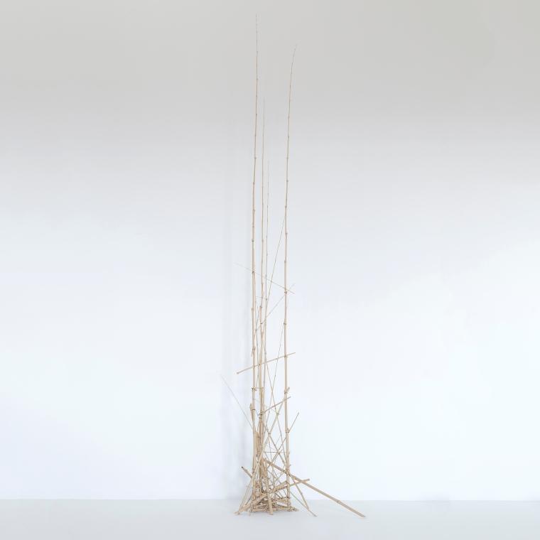 Sculpture 2 - 2016 - Bambous, fil de fer - L 72 x H 218 x P 31 cm.