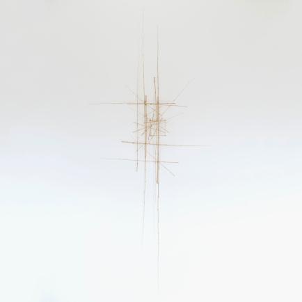 Sculpture 4 - 2016 - Bambous, fil de fer - L 100 x H 220 x P 30 cm.