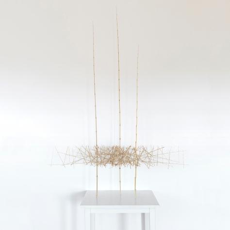Sculpture 6 - 2018 - Bambous, fil de fer - L 122 x H 170 x P 56 cm.