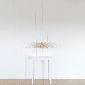Sculpture 6 - 2018 - Bambous, fil de fer - L 122 x H 167 x P 55 cm.