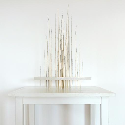 Sculpture 8 - 2018 - Bambous, paraffine - L 38 x H 61 x P 22,7 cm.