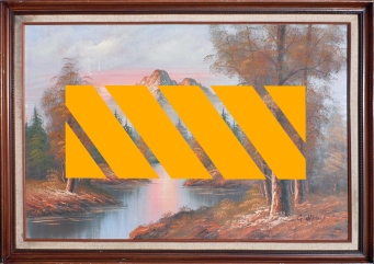 Acrylique sur toile de G. Whitman, 101 X 71 cm
