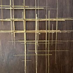 SCULPTURE 10. 2019. Bambou, fil de fer. L 108 x H 104 x P 18 cm.