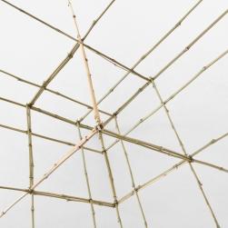 SCULPTURE 11. 2019. Bambou, fil de fer. L 135 x H 106 x P 106 cm.