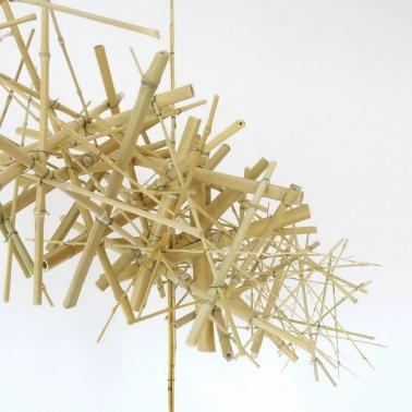 Sculpture 20 – 2020 – bambou, fil de fer – L 141 x P 206 x H 48 cm