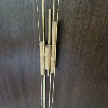 Sculpture 26. L 7,5 x 3,5 x H 142 cm. Bambou