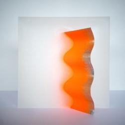 Sculpture P02 - Paraffine et brique - L 24 x H 24 x P 8 cm