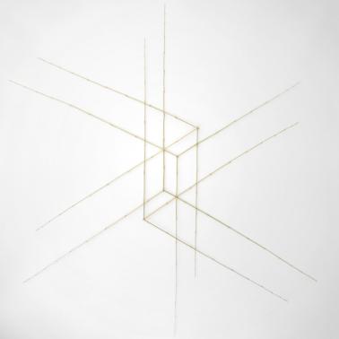Sculpture 27. L 85 x H 96 cm. Bambou, fil de fer